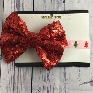 Other - Christmas headband sparkly bow headband headband